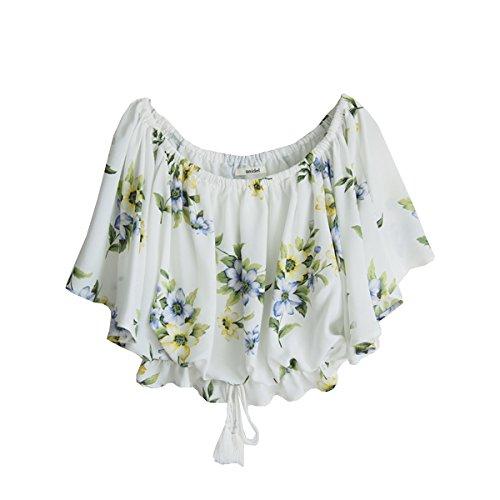 (スナイデル)snidel スプリングフラワーブラウス swfb161005 WHITE  F : 服&ファッション小物通販 | Amazon.co.jp