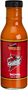 Tailgate Iowa State University Medium Wing Sauce, 12-Ounce Glass Bottles (Pack of 6) by Tailgate