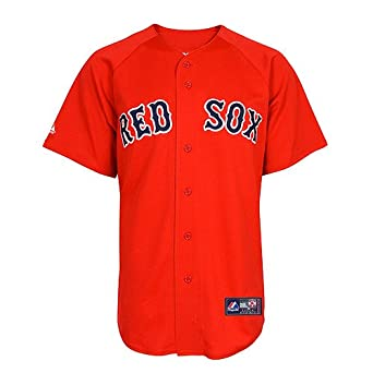MLB Boston Red Sox David Ortiz Scarlet Alternate Short Sleeve 6 Button Synthetic... by Majestic