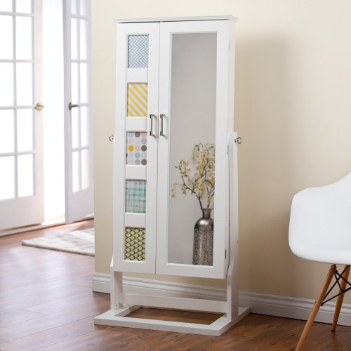 Stand Up Mirror Jewelry Box