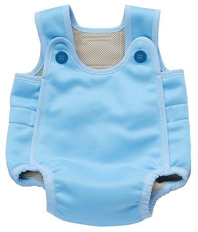 2層保温タイプ ベビー水着・幼児用水着「ベビーアクアスーツ」サックスブルー(水色)M