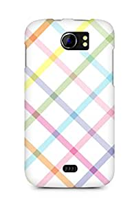 Amez designer printed 3d premium high quality back case cover for Micromax Canvas 2 A110 (lines colours)