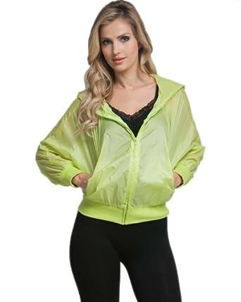 G2 Chic Women's Zip Up Wind Breaker Jacket(OW-JKT,YEL-S)