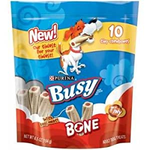 PURINA 381054 8-Pack Busy Bone Tiny for Pets, 6.5-Ounce