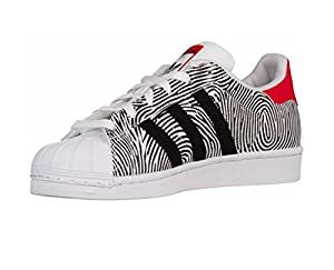 adidas Superstar Fingerprint (Big Kids) (5.5)