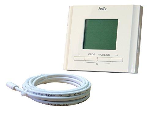 jollyt Herm Rapid terra Heat orologio Termostato a incasso per riscaldamento a pavimento elettrica, 1pezzo, 00132