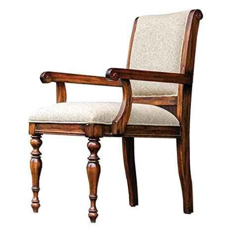 Uttermost Danek Honey Stained Armchair