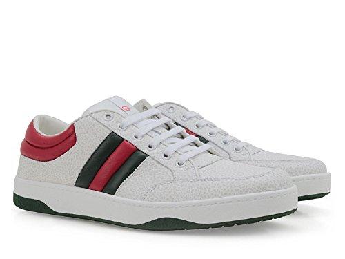Sneakers Gucci uomo in pelle bianco - Codice modello: 407330 DEF30 9083 - Taglia: 44 IT