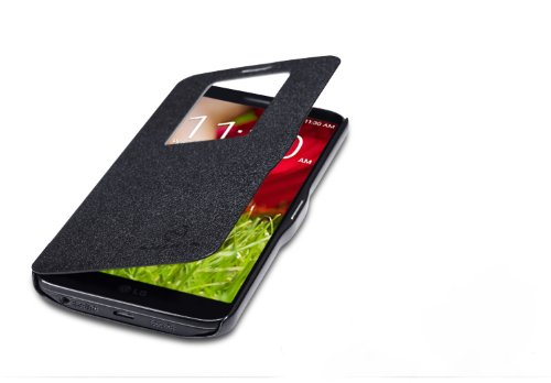 Nillkin Fresh S View Leather Flip Cover Case For LG Optimus G2 D802 F320 - Black