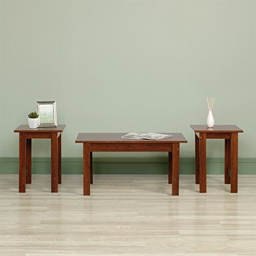 Sauder Beginnings 3 Piece Coffee Table Set (Brown Coffee Table Set compare prices)