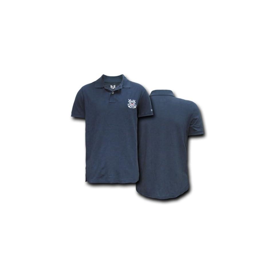 Rapid Dominance Genuine US Coast Guard Lightweight Choice Polo Shirt   Navy Blue, Large