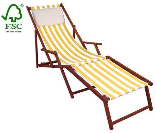 Sonnenliege Gartenliege Deckchair Saunaliege inkl. abnehmbarem Fußteil und Kopfstütze jetzt kaufen