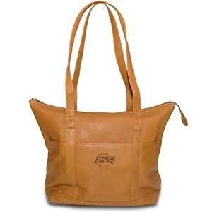 NBA Tan Leather Ladies Tote Handbag by Pangea Brands