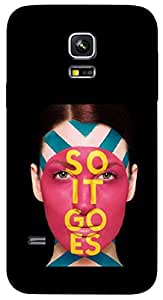 Timpax Protective Armour Case Cover lightweight construction easily slides in and out of pockets. Multicolour Printed Design : A girl at a Parlour.100% Compatible with Samsung Galaxy S5 mini ( SM 800G )
