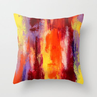 Society6 - Palette Knife Paiting Throw Pillow By Liz Moran