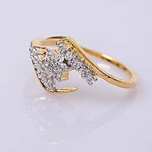 Aditri Women Girls Ring C 49 Gold White
