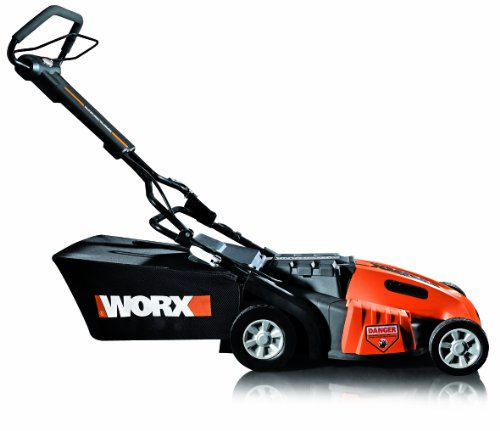 WORX WG788 19-Inch 36 Volt Cordless 3-In-1 Lawn Mower With Removable Battery & IntelliCut image