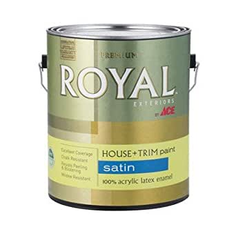 Latex Acrylic Enamel House Trim Midtone Base Exterior Satin Gallon House Paint