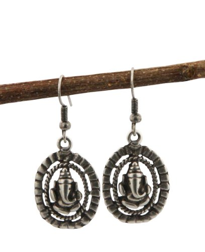 Abstract Ganesh Earrings (USA)