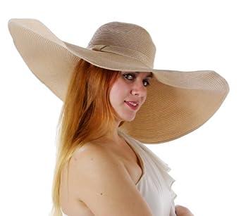 Stylish Starlet Large Wide Brim Hat (Natural)