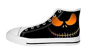 Men's High Top Full Canvas Upper Shoes Soft Inner Horrific Jack Design