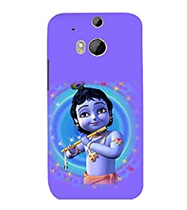 printtech Lord God Krishna Small Cartoon Back Case Cover for HTC One M8::HTC M8