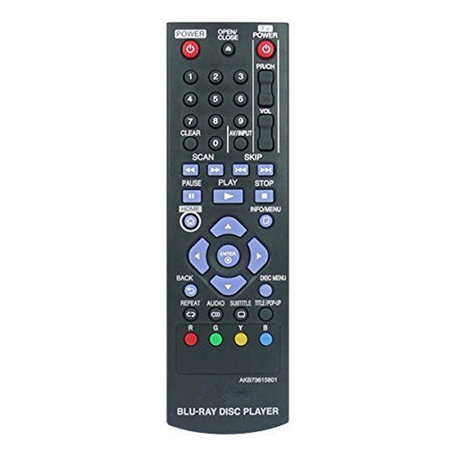 Neohomesales New LG AKB73615801 Blu-ray Disc Replacement Remote Control (Lg Blu Ray Remote compare prices)