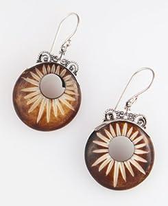 486 Sunshine Earrings / Organic / Silver Jewelry of Bali