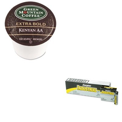 Kiteveen91Gmt4057 - Value Kit - Green Mountain Coffee Roasters Kenyan Aa Coffee K-Cups (Gmt4057) And Energizer Industrial Alkaline Batteries (Eveen91)