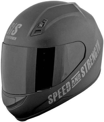 Speed and Strength SS700 Go for Broke Matte Black Full Face Helmet - Medium