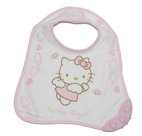 1-Stk-Babyltzchen-Ltzchen-mit-Beiring-Hello-Kitty-aus-weichem-Frottee-rosa-pink-Katze-Klett