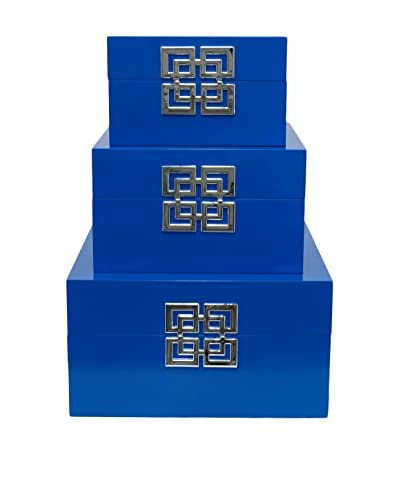 Three Hands Set of 3 Blue Boxes