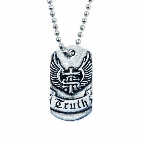 Truth Soul Armor Dog Tag Pendant Necklace
