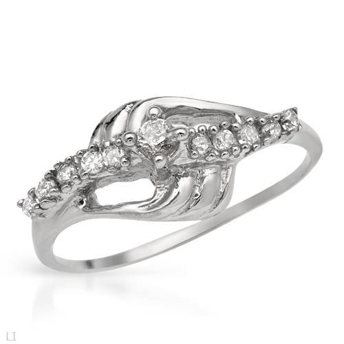 Ring With 0.55ctw Cubic zirconia Made of 925 Sterling silver (Size 7)