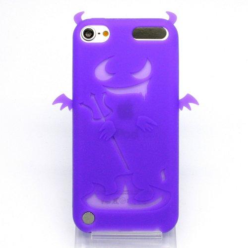 Gekiten Apple iPod Touch 5 Devil Purple 【アイポッド タッチ 5 対応 エンジェル 天使 悪魔 シリコン ケース】 パープル 紫 CASEIPT5-Devil-PP