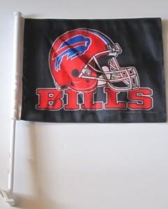 Buffalo Bills NFL Car Flag with Bracket