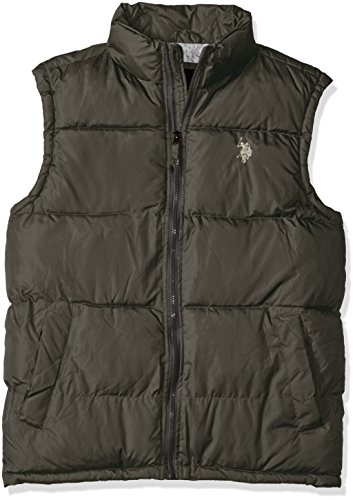 U.S. Polo Assn. Men's Basic Puffer Vest, Dark Shadow, XL (Us Polo Assn compare prices)