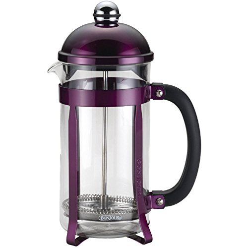 Coffee 8-Cup Maximus French Press, Purple,6.75 x 4.75 x 11.25 (Bonjour French Press Parts compare prices)