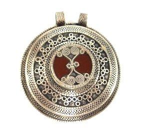 Red Turkmen Pendant