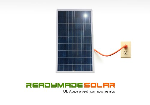 Readymade Solar Power Kit- 235 Watt Solar Panel With Micro Grid Tie Inverter, Ul Approved Polycrytalline Solar Panel, Prewired And Configured. Do It Yourself (Diy) Solar; Ul ;20-Years Warranty ; Attach Easily To Your Roof, Backyard, Patio Or Fence