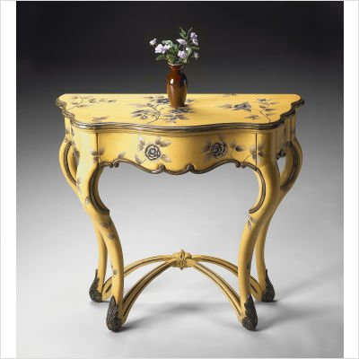 Butler Console Table Yellow Floral - 5014196