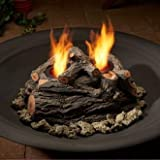 Real Flame 2-Can Outdoor Log Set Oak