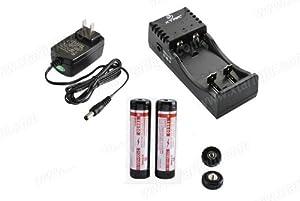 XTAR WP2II 3.7V Li-ion battery charger and 2pc XTAR 18650 3100mAh battery(Panasonic cell inside) Kit