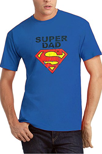 My Tummy T shirt per pap? Super Dad II blu M (medium)