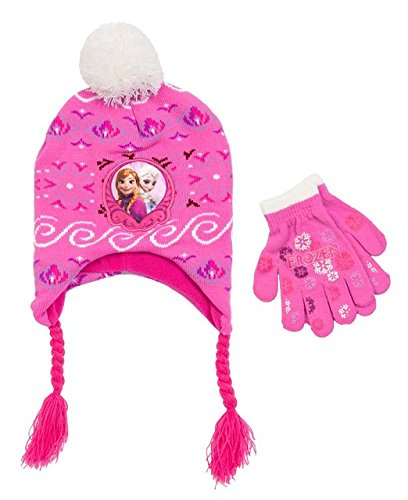 b12423f9dfa Frozen Elsa and Anna Toddler Laplander Hat with Gloves - Import It All