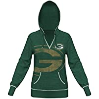 Green Bay Packers Women's Majestic NFL Cross Block Hooded Sweatshirt by Majestic