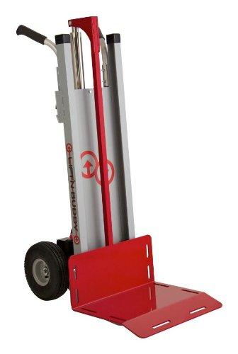 "Lift'N Buddy Lnb 250 Aluminum Electric Hand Truck With E10 Linear Actuator, 10"" Diameter Wheel, 250 Lbs Capacity, 30"" Length X 20"" Width X 52"" Height"