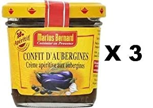 french eggplant confit in olive oil marius bernard confit d aubergines a l huile d olive 3 x. Black Bedroom Furniture Sets. Home Design Ideas