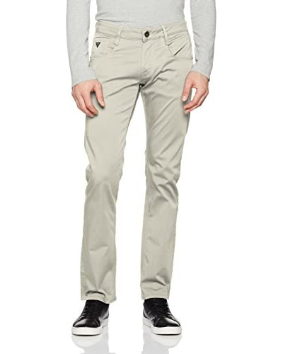 Guess Pantalón Slim Straight Vermont Crudo