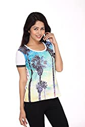 Girl's Printed Short Sleeve Round Neck cotton Tees by Bongio_ RWS5F2011_XL
